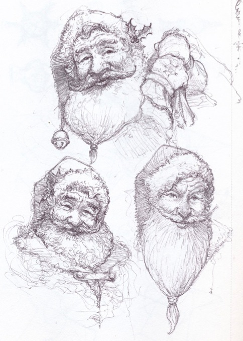 Santa Sketches | None | My Website